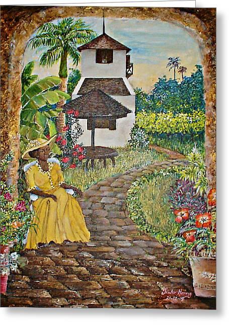 Estate Garden Greeting Card