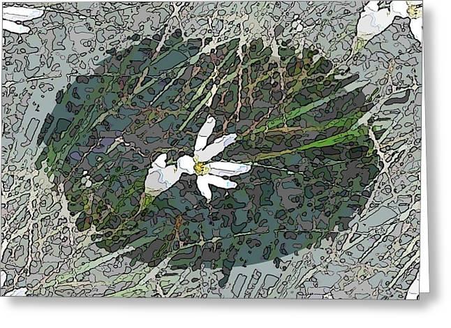 Estuary Bloom Greeting Card by Tim Allen