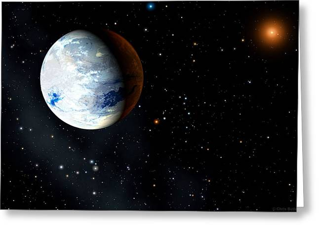 Eta Cassiopeiae Planet Greeting Card by Chris Butler