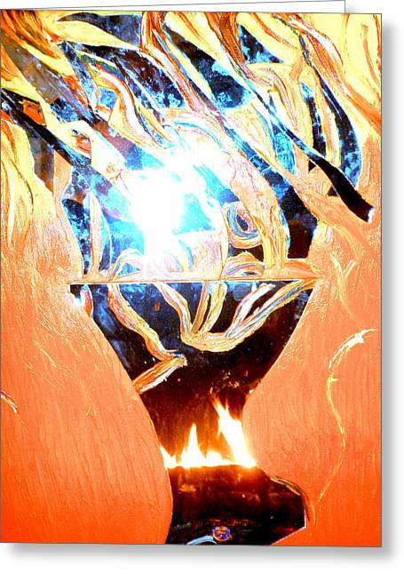 Eternal Torch Greeting Card by Tyler Schmeling