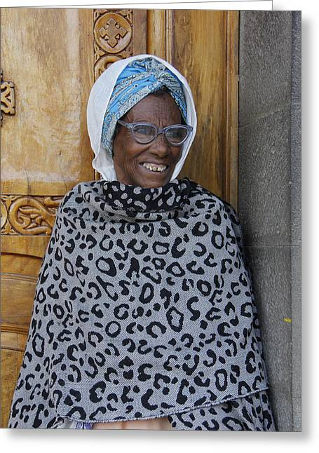 Ethiopia-south Orthodox Christian Woman Greeting Card by Robert SORENSEN