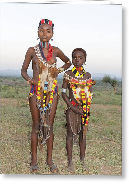 Ethiopia-south Sisters Greeting Card by Robert SORENSEN