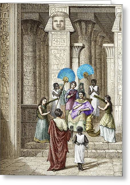 Euclid And Ptolemy Soter, King Of Egypt Greeting Card