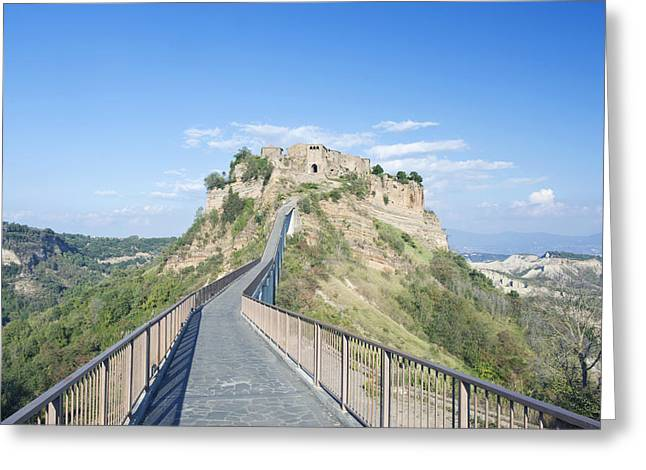 Europe Italy Umbria Civita Bridge Greeting Card by Rob Tilley