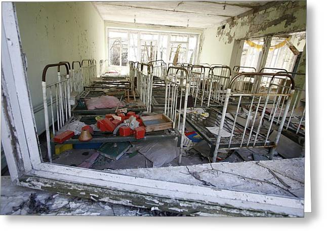 Evacuated Kindergarten Near Chernobyl Greeting Card by Ria Novosti