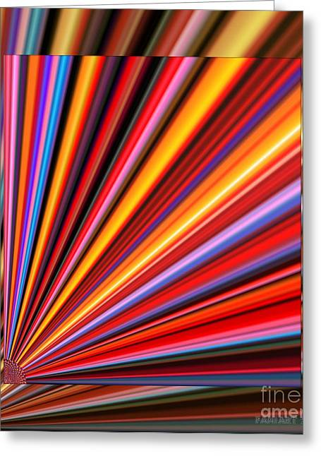 Even Lines Get Colorful Greeting Card by Fania Simon