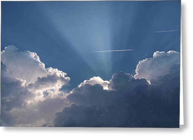 Even Through The Clouds You Will Find A Ray Of Sunshine Greeting Card
