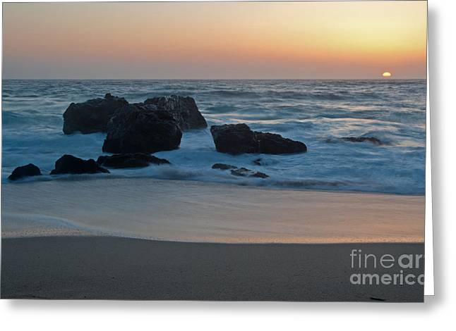 Evening At Beach 4 Greeting Card by Catherine Lau