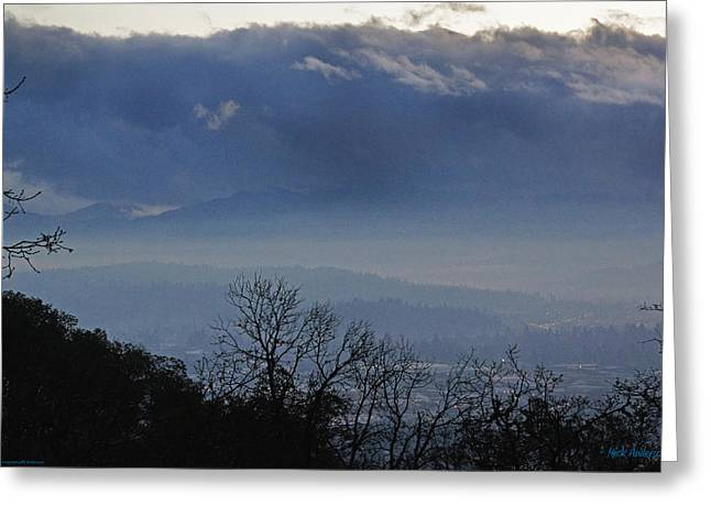 Evening At Grants Pass Greeting Card by Mick Anderson