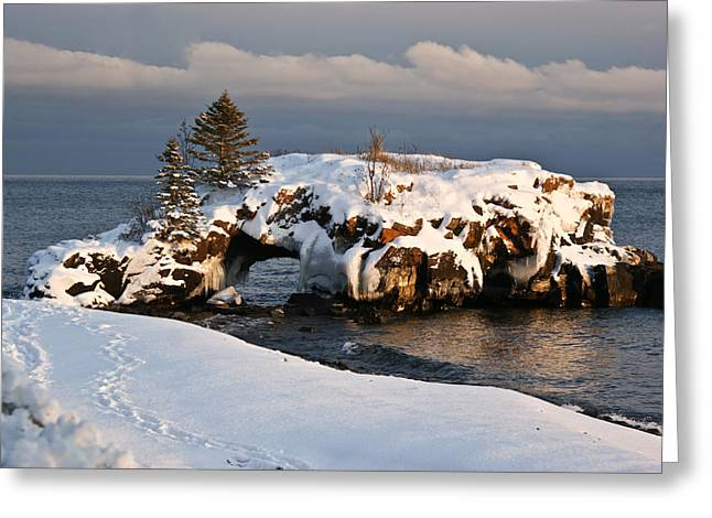 Evening At Hollow Rock Greeting Card by Tingy Wende