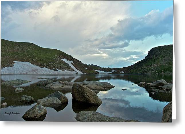 Greeting Card featuring the photograph Evening At Summit Lake by Stephen  Johnson
