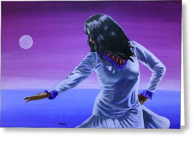 Evening Dance Greeting Card by Jerry Frech