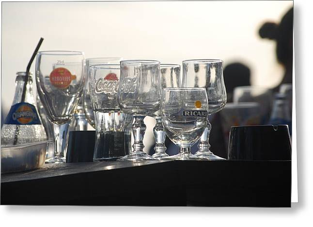 Evening Drinks Greeting Card by Dickon Thompson