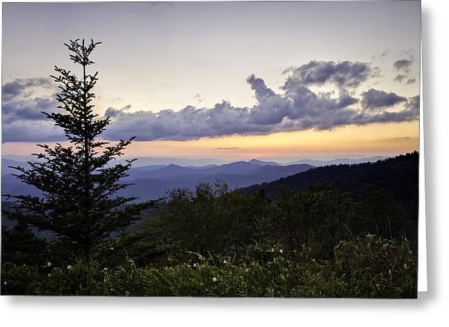 Evening Falls On The Blue Ridge Greeting Card