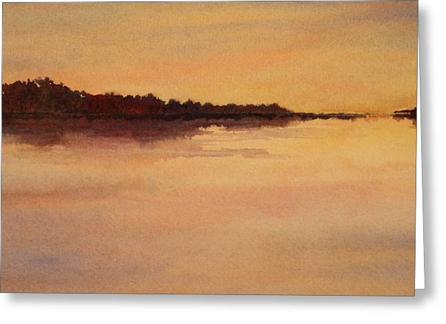 Greeting Card featuring the painting Evening Glow by Vikki Bouffard