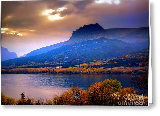 Greeting Card featuring the photograph Evening In Glacier National Park by Irina Hays