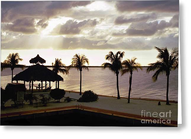 Evening In The Keys - Key Largo Greeting Card