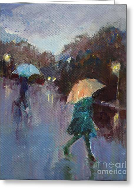 Evening Rain Greeting Card