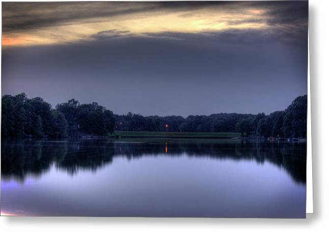 Evening Reflections Greeting Card by Barry Jones