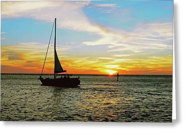 Evening Sailing Greeting Card