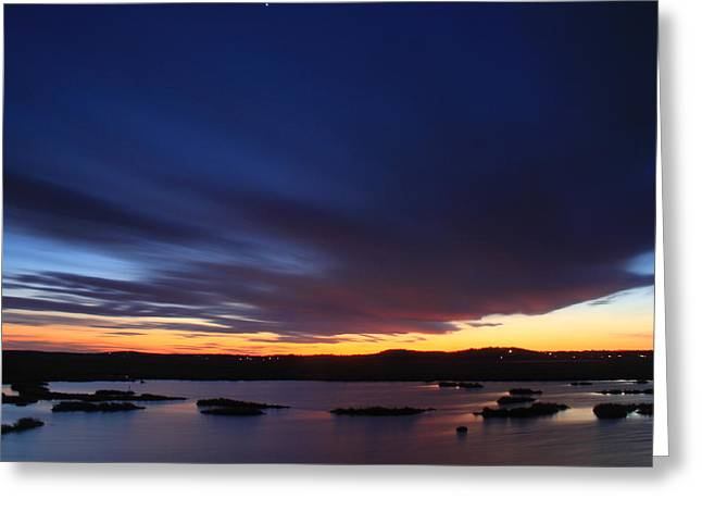 Evening Sky Over The Marsh Parker River National Wildlife Refuge Greeting Card