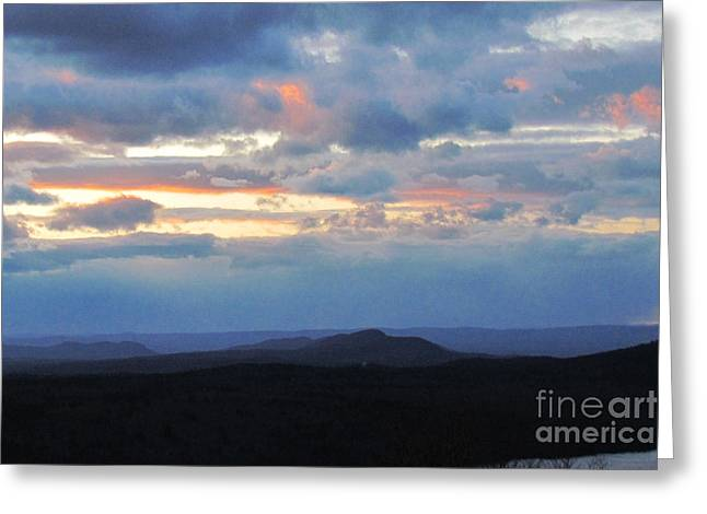 Evening Sky Over The Quabbin Greeting Card