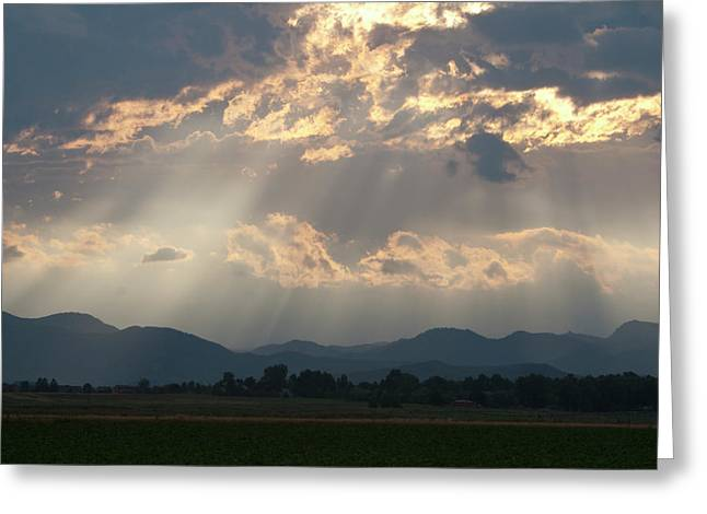 Evening Storm Clouds Greeting Card by Renee Skiba