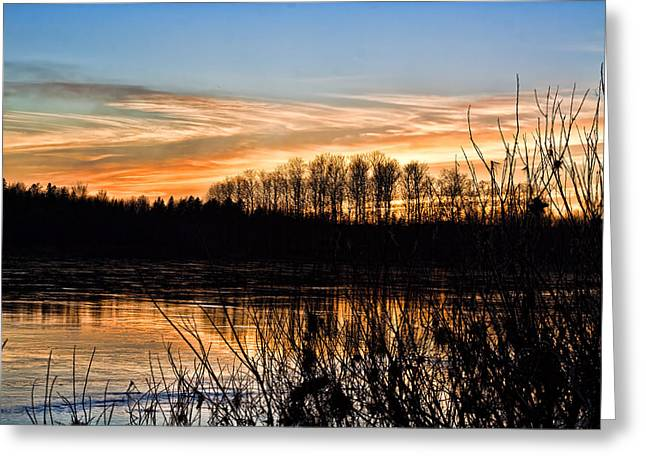 Evening Sunset Greeting Card by Gary Smith