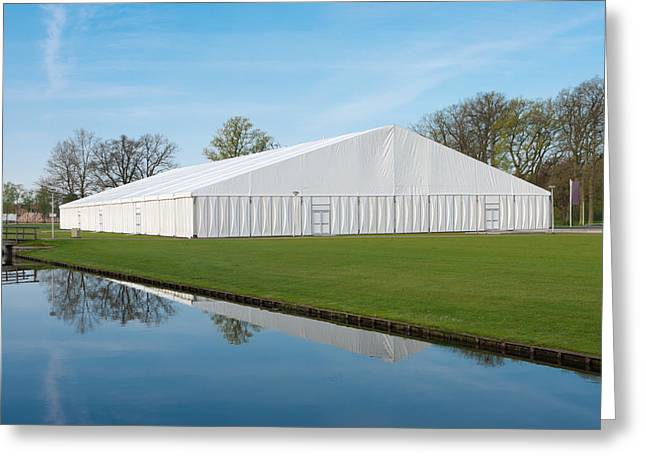 Greeting Card featuring the photograph Event Tent by Hans Engbers