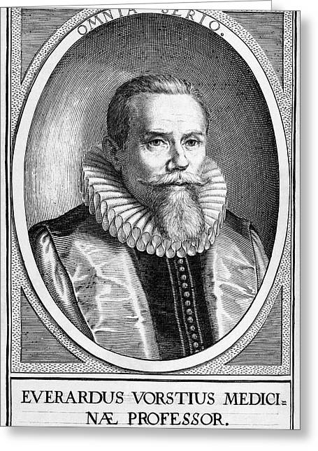 Everardus Vorstius, Dutch Physician Greeting Card by Middle Temple Library