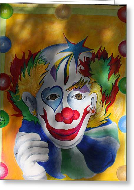 Everybody Loves A Clown Greeting Card