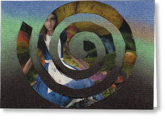 Evil Alice Spiral Greeting Card