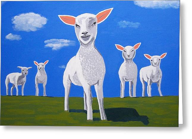 Ewe Talkin To Me Greeting Card by Eamon Reilly