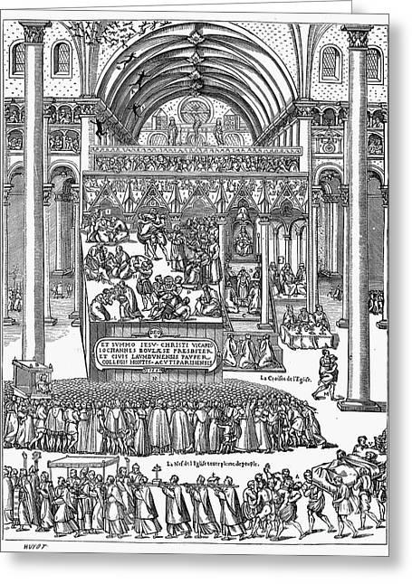 Exorcism, 1566 Greeting Card