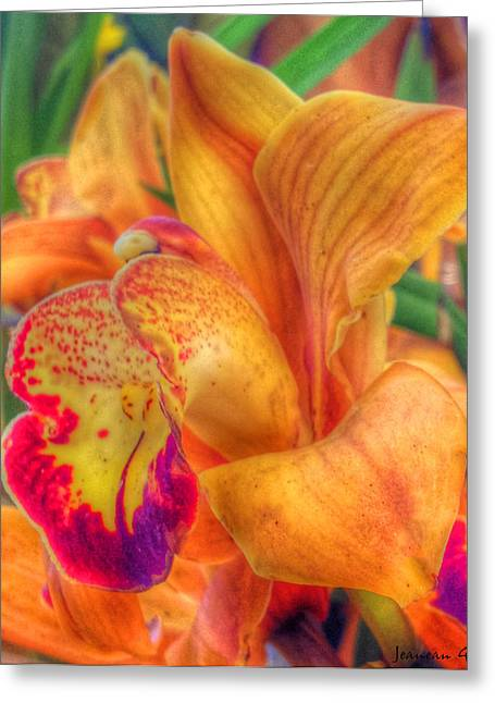 Exotic Embrace Greeting Card by Jeanean Gendron