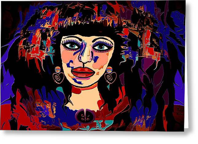 Exotic Woman Greeting Card by Natalie Holland