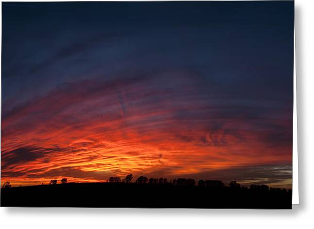 Expansive Sunset Greeting Card by Art Whitton