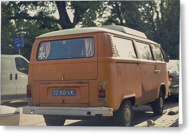 Expired Kodak Portra And #vw #bus Greeting Card
