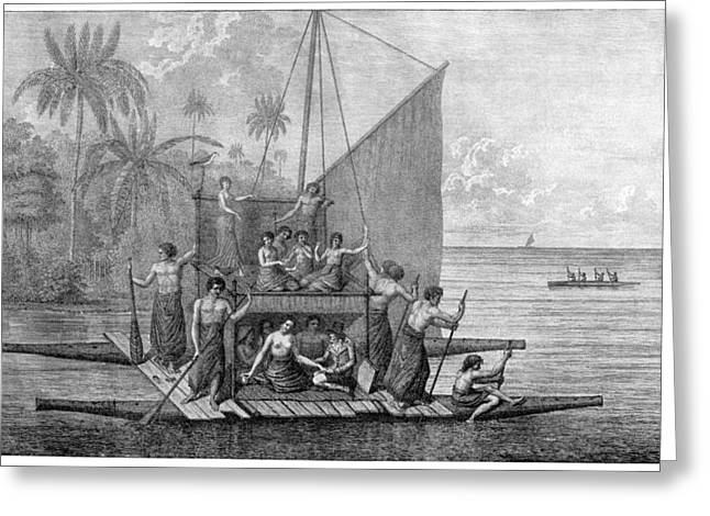 Exploration Of Tonga, 18th Century Greeting Card