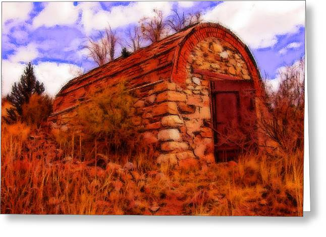 Explosives Shed Greeting Card by Howard Perry
