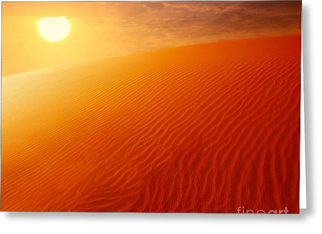Extreme Desert Land Greeting Card by Anna Om