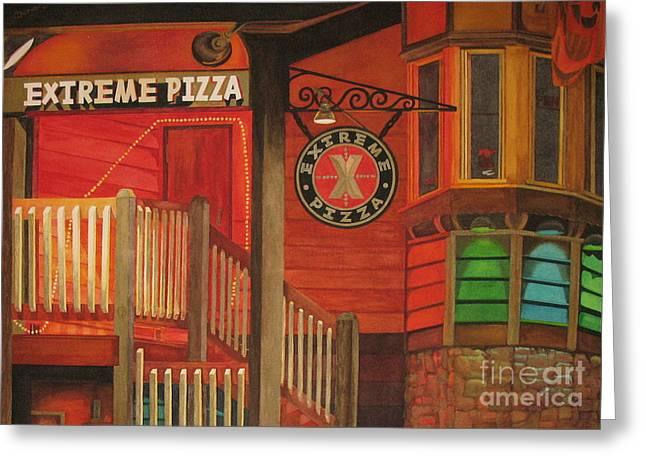 Extreme Pizza Greeting Card by Vikki Wicks