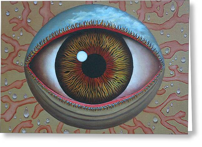 Eye Dew Greeting Card by Sharon Ebert