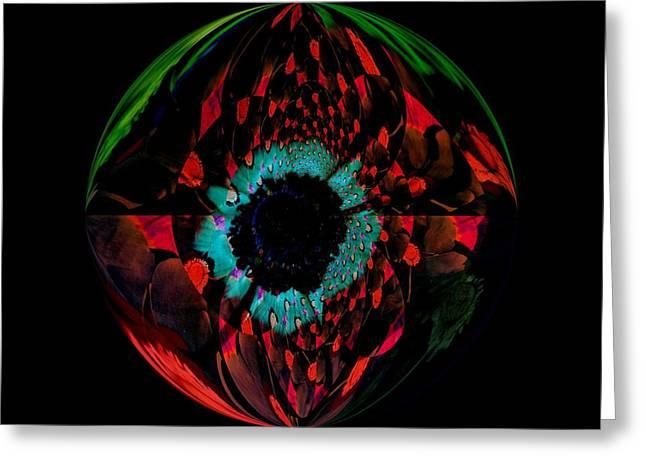 Eye Of A Peacock... Greeting Card by Tanya Tanski