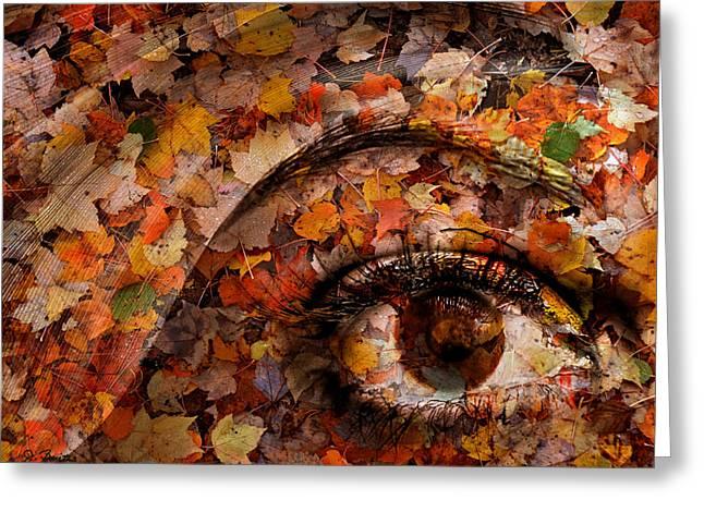 Eye Of Autumn Greeting Card by Joe Bonita