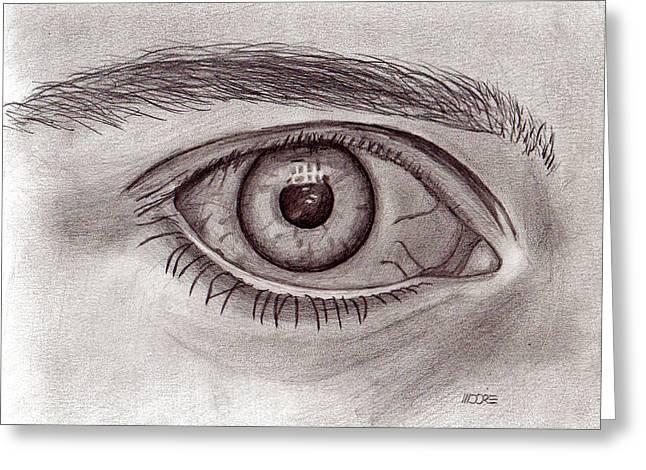 Eye Greeting Card by Pat Moore