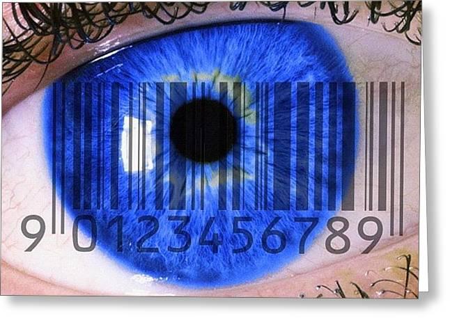 Eye Scan Greeting Card