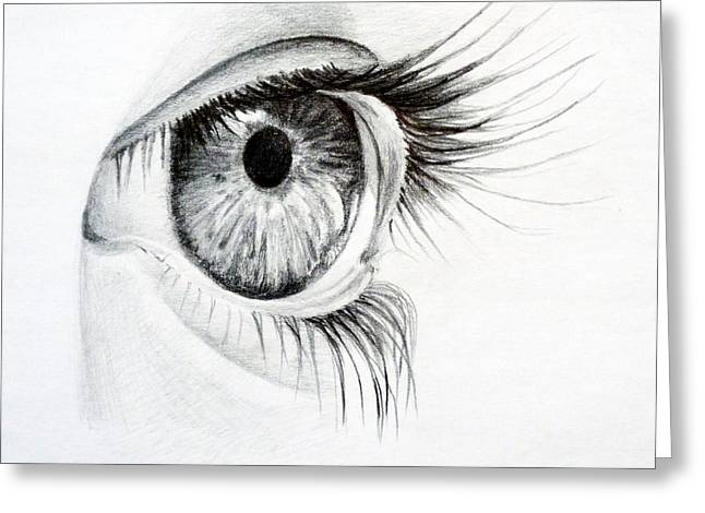 Eye Study Greeting Card by Eleonora Perlic