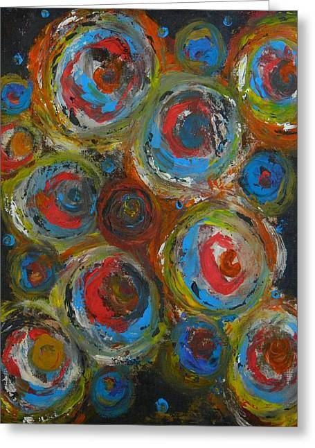 Greeting Card featuring the painting Eyeball by Everette McMahan jr