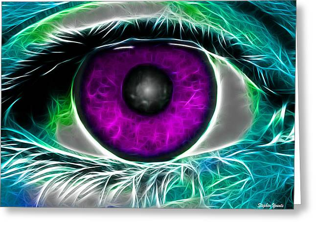 Eyeconic Greeting Card by Stephen Younts